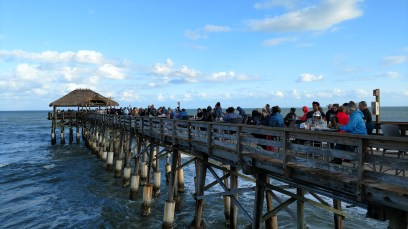 Rocket Watching Crowd on Cocoa Beach Pier